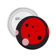 Red and pink dots 2.25  Buttons