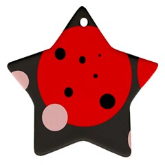 Red and pink dots Ornament (Star)