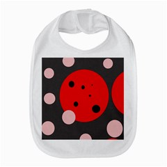 Red and pink dots Bib