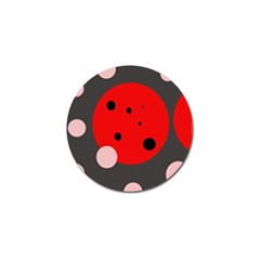 Red and pink dots Golf Ball Marker (10 pack)
