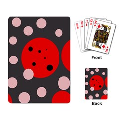 Red and pink dots Playing Card