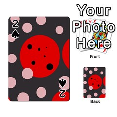 Red and pink dots Playing Cards 54 Designs