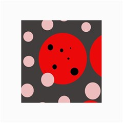 Red and pink dots Collage Prints