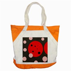 Red and pink dots Accent Tote Bag