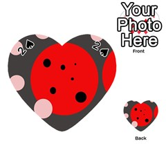 Red and pink dots Playing Cards 54 (Heart)