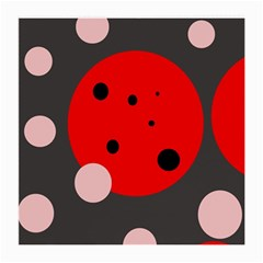 Red and pink dots Medium Glasses Cloth