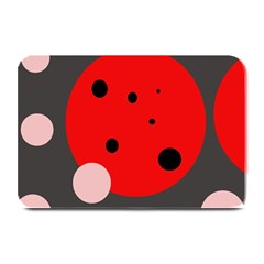 Red and pink dots Plate Mats