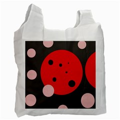 Red and pink dots Recycle Bag (Two Side)