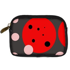 Red and pink dots Digital Camera Cases