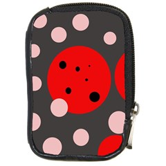 Red and pink dots Compact Camera Cases