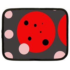 Red and pink dots Netbook Case (XL)