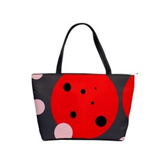 Red and pink dots Shoulder Handbags