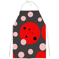 Red and pink dots Full Print Aprons
