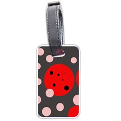 Red and pink dots Luggage Tags (Two Sides)