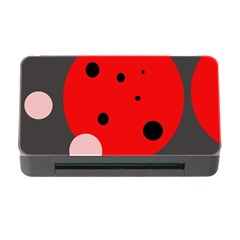 Red and pink dots Memory Card Reader with CF