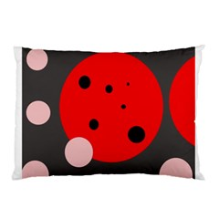 Red and pink dots Pillow Case (Two Sides)