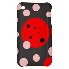 Red and pink dots Apple iPhone 3G/3GS Hardshell Case