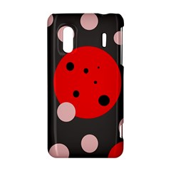 Red and pink dots HTC Evo Design 4G/ Hero S Hardshell Case