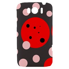Red and pink dots HTC Sensation XL Hardshell Case