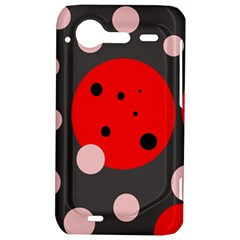 Red and pink dots HTC Incredible S Hardshell Case