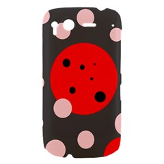 Red and pink dots HTC Desire S Hardshell Case