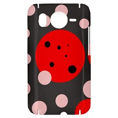 Red and pink dots HTC Desire HD Hardshell Case