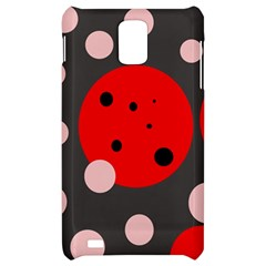 Red and pink dots Samsung Infuse 4G Hardshell Case