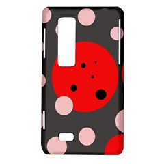 Red and pink dots LG Optimus Thrill 4G P925
