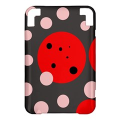 Red and pink dots Kindle 3 Keyboard 3G