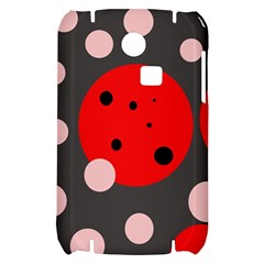 Red and pink dots Samsung S3350 Hardshell Case