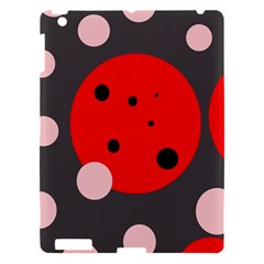 Red and pink dots Apple iPad 3/4 Hardshell Case