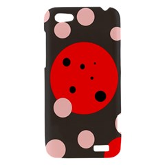 Red and pink dots HTC One V Hardshell Case