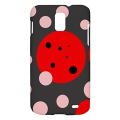 Red and pink dots Samsung Galaxy S II Skyrocket Hardshell Case