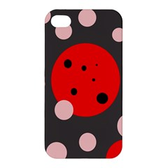 Red and pink dots Apple iPhone 4/4S Premium Hardshell Case
