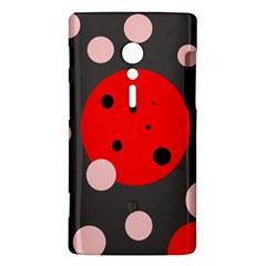 Red and pink dots Sony Xperia ion