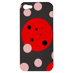 Red and pink dots Apple iPhone 5 Hardshell Case
