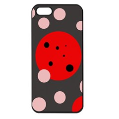 Red and pink dots Apple iPhone 5 Seamless Case (Black)