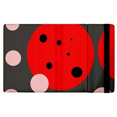Red and pink dots Apple iPad 2 Flip Case