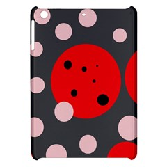 Red and pink dots Apple iPad Mini Hardshell Case