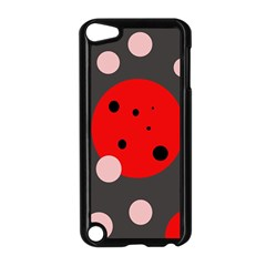 Red and pink dots Apple iPod Touch 5 Case (Black)