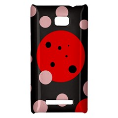 Red and pink dots HTC 8X