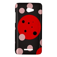 Red and pink dots HTC Butterfly X920E Hardshell Case