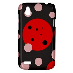 Red and pink dots HTC Desire V (T328W) Hardshell Case