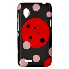 Red and pink dots HTC Desire VT (T328T) Hardshell Case