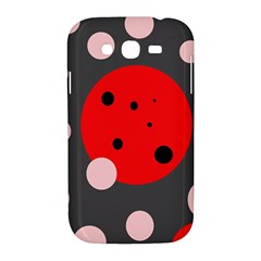 Red and pink dots Samsung Galaxy Grand DUOS I9082 Hardshell Case