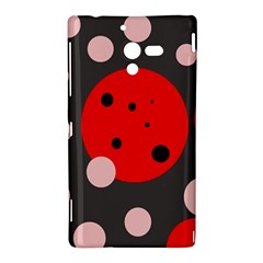 Red and pink dots Sony Xperia ZL (L35H)