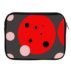 Red and pink dots Apple iPad 2/3/4 Zipper Cases