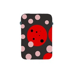 Red and pink dots Apple iPad Mini Protective Soft Cases