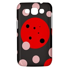 Red and pink dots Samsung Galaxy Win I8550 Hardshell Case