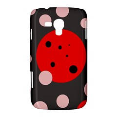 Red and pink dots Samsung Galaxy Duos I8262 Hardshell Case
